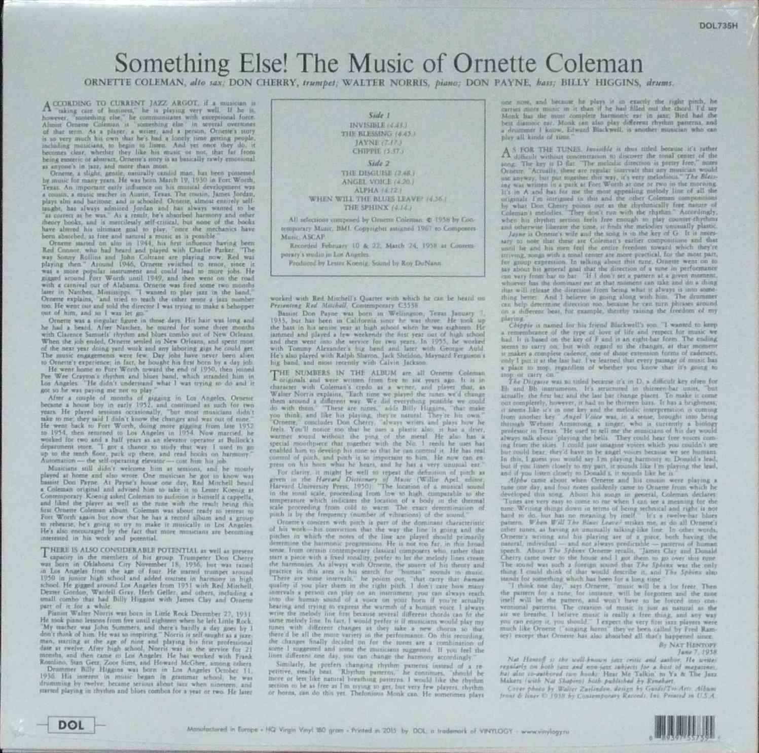 ornette coleman paper essay The unofficial john zorn homepage this is a page dedicated to the music of composer/saxophone player john zorn note: certain visual elements of this web site may be disturbing to certain people.